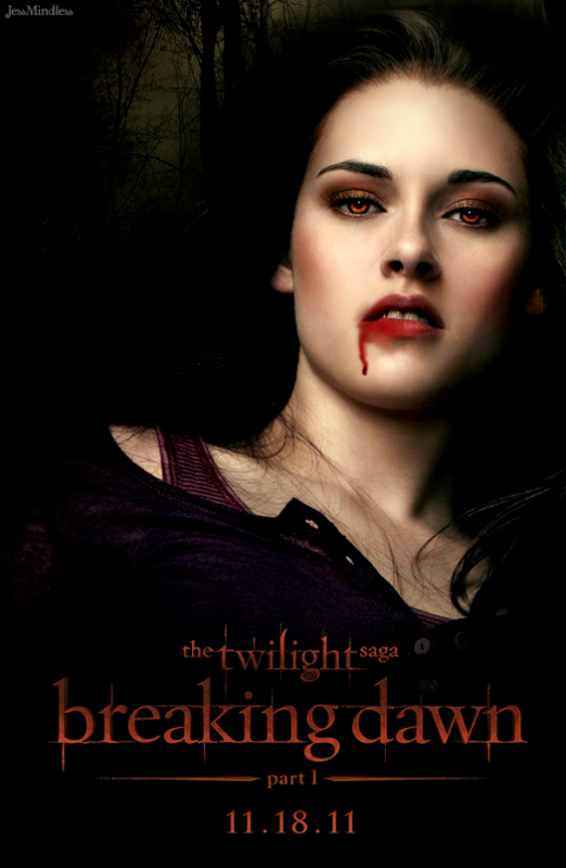 Montage de Kristen Stewart dans le rôle de Bella en vampire. (2011)