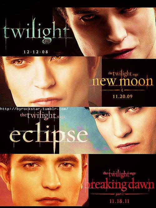 Evolution d'Edward et Jacob de Twilight à Breaking Dawn