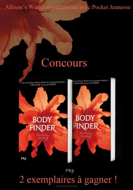 Concours en partenariat avec @pocket_jeunesse 2 exemplaires de Body Finder sont à gagner !