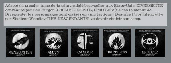 #Divergente les posters par @SNDfilms , détails et synopsis.