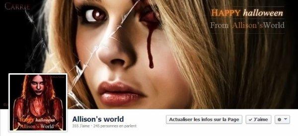 La page FB du blog est aux couleurs d'Hallowenn