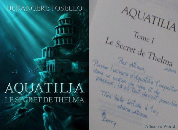Mon avis sur Aquatilia de Berangere Tosello