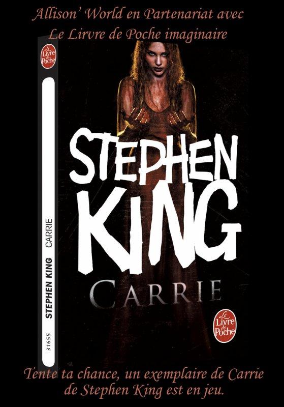 RT Plz, #Concours gagne un exemplaire de Carrie de Stephen King !!