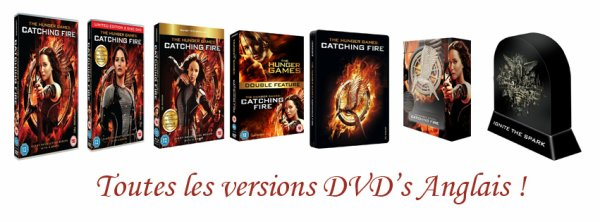 Visuels des DVD's UK de Catching Fire