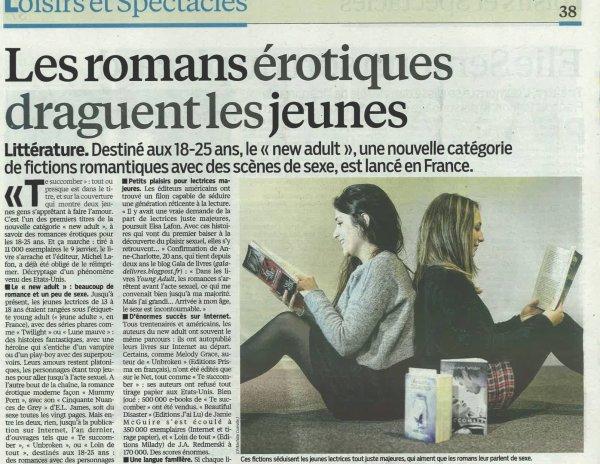 @michellafon Te Succomber et le New-Adult est dans le Parisien !
