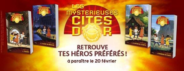 La série les Mystérieuses Cités d'or sort demain aux éditions @pocket_jeunesse