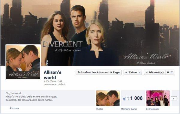 Mon Twitter et ma page FB on revêtus les couleurs de #Divergente