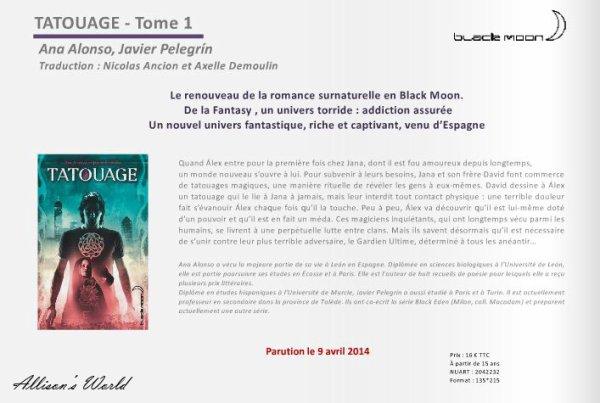 #BlackMoon les sorties pour avril, mai, juin