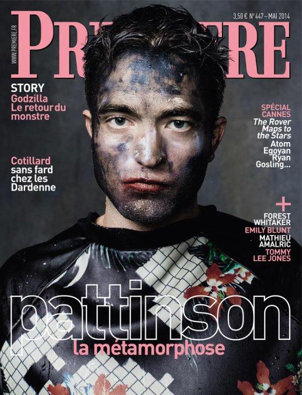 Robert Pattinson en couverture de Première (spéciale Cannes 2014)