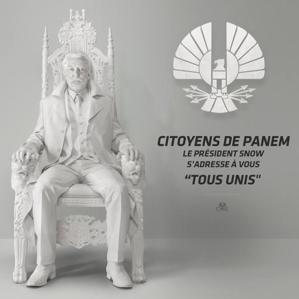 #EDIT Ajout de la VF #LaRévoltePart1 Capitol TV le message du président Snow