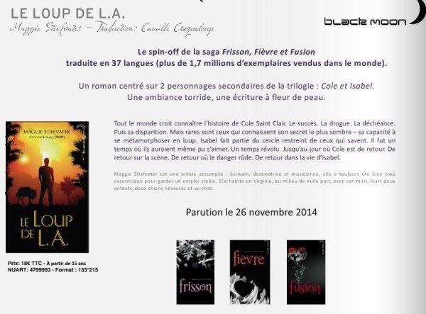 Hachette Romans les parutions #BlackMoon d'octobre, novembre, décembre !