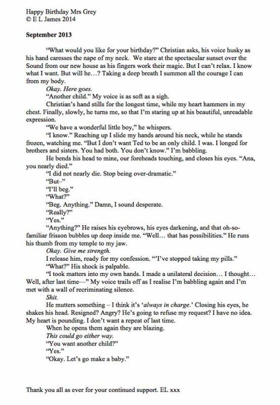 Un quatrième tome pour Fifty Shades ? ... Mmm...Affaire à suivre de près !