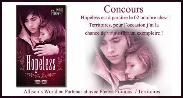 Résultat concours Hopeless de Colleen Hoover  !