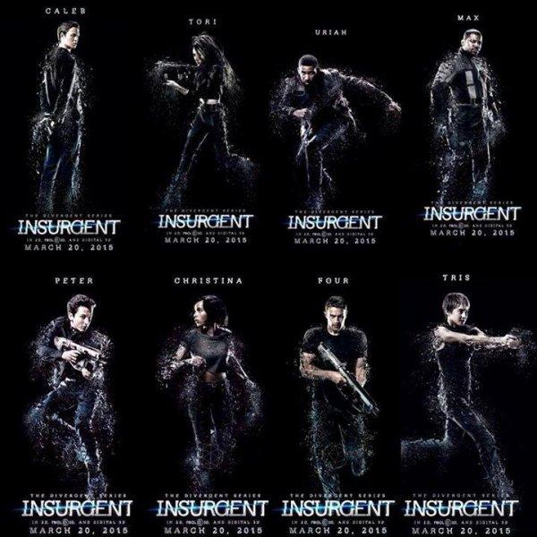 L'intégralité des posters de #INSURGENT (Tris a les cheveux court et j'aime)