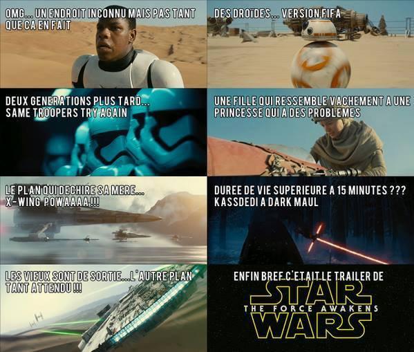 Pour les fans de Star Wars voici le teaser de Star Wars 7 VF
