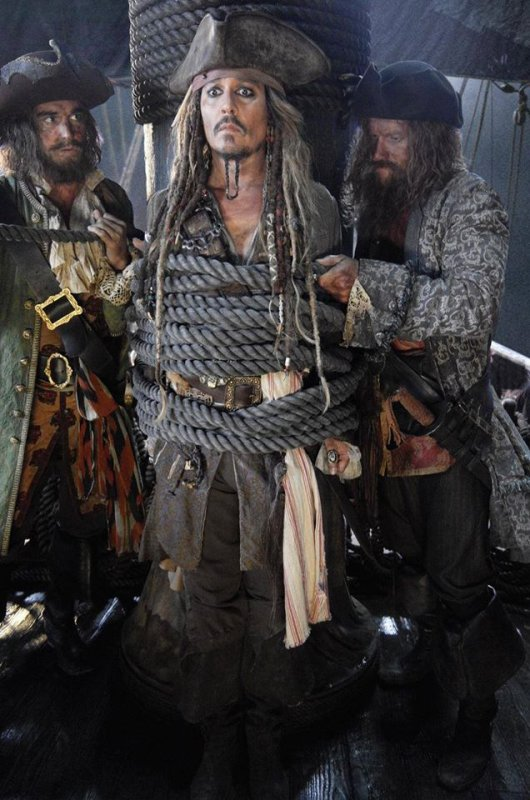 #NEWS #PiratesDesCaraïbe5 la toute première photo de Jack Sparrow