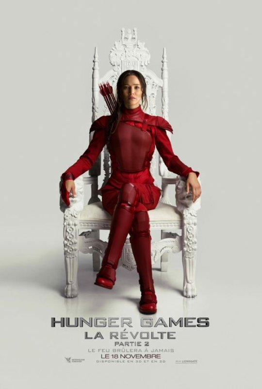#LaRévoltePart2 @Metropolitan_Fr nous dévoile le poster de Katniss en VF !
