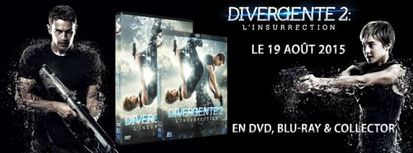 #Divergente2: L'insurrection le 19 août en DVD & BLU-RAY