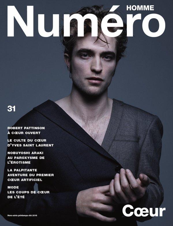 Rob fera la couverture du magazine Numéro Homme le 2 mars en kiosque