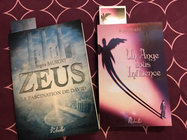 Présentation de Zeus La Fascination de David et Un Ange sous Influence de Brigitte Baumont Rebelle Editions