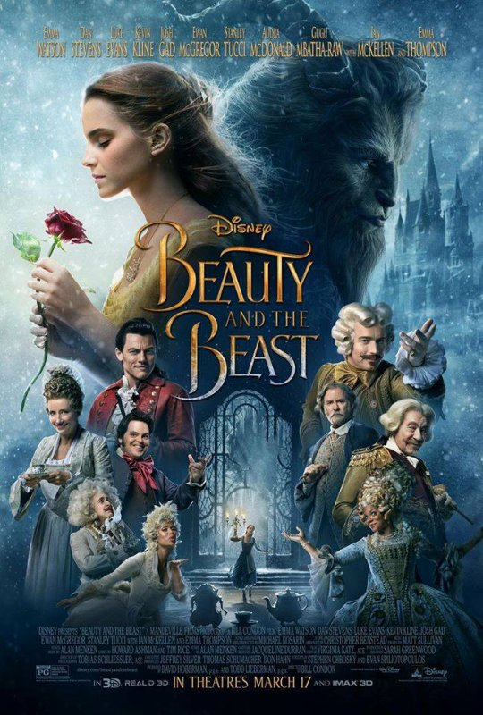 #BeautyAndTheBeast le poster officiel ! Woah !!