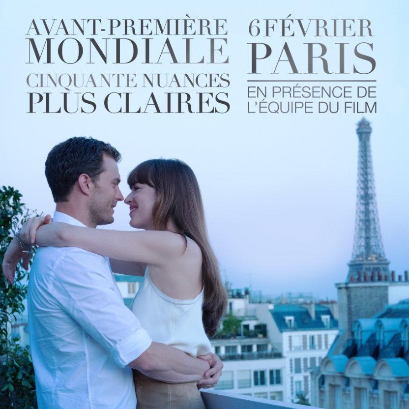 Cinquante Nuances Plus Claire avant première le 6 février à Paris !
