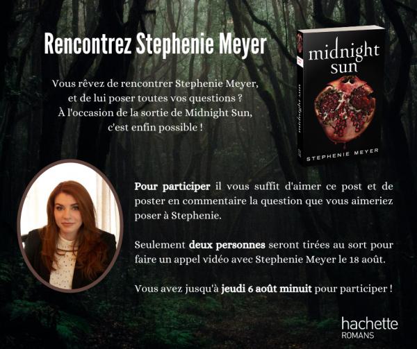 Vous avez envie de rencontrer Stephenie Meyer l'autrice de la saga Twilight ?