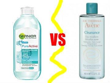 L'eau micellaire Garnier VS l'eau micellaire Avène