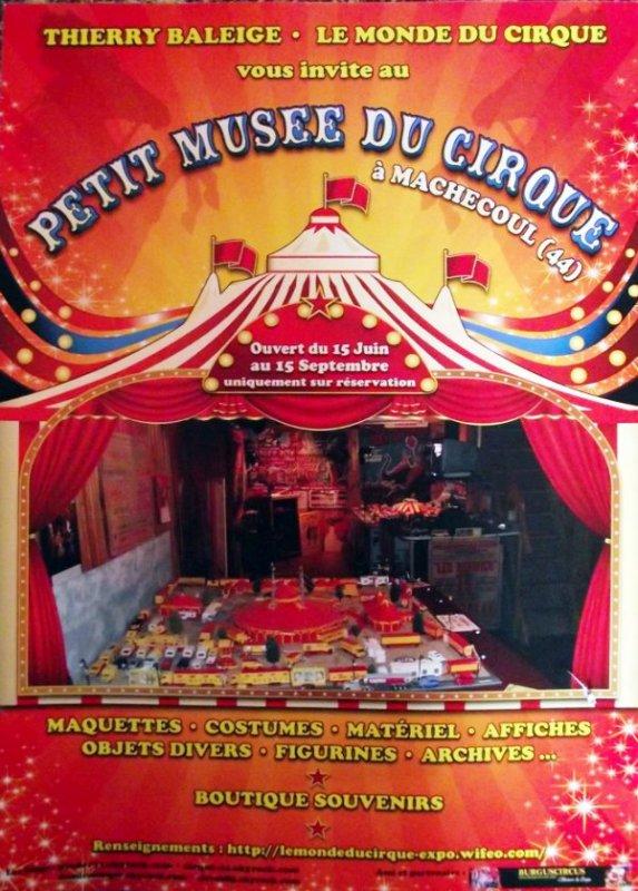 le petit mus e du cirque de machecoul cirque circo circus zirkus. Black Bedroom Furniture Sets. Home Design Ideas