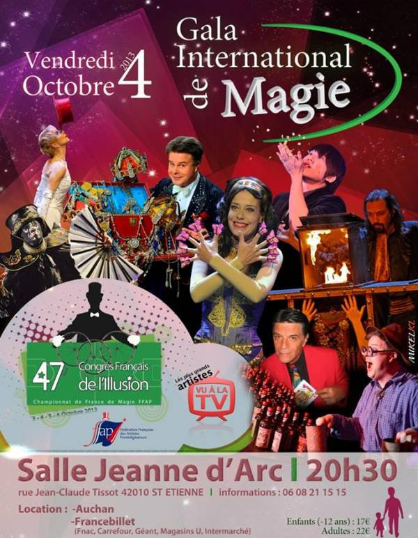 GALA INTERNATIONAL DE MAGIE ST-ETIENNE
