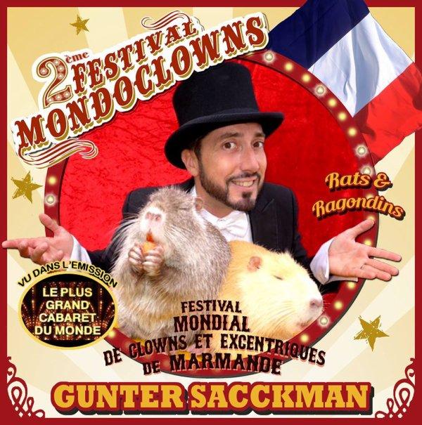 """GUNTER SACCKMAN AU 2ème FESTIVAL """"MONDOCLOWN"""""""