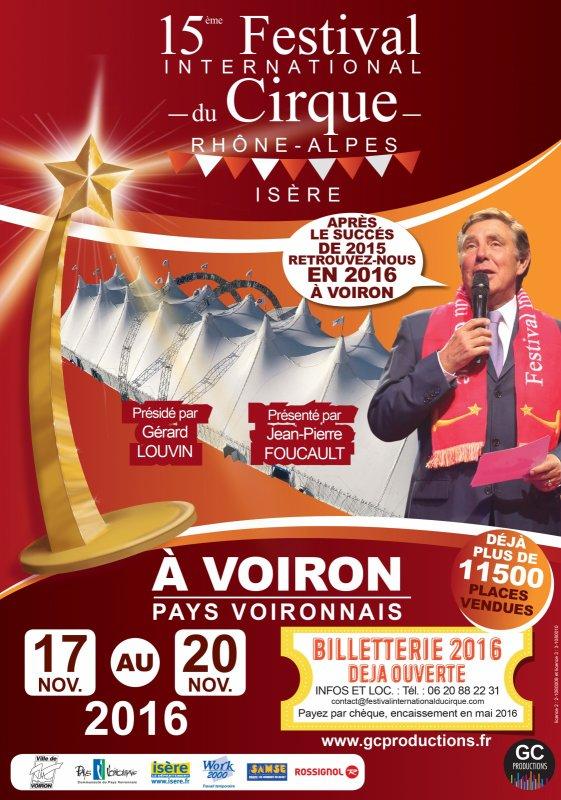 PALMARES DU 15 ème FESTIVAL DU CIRQUE DE VOIRON