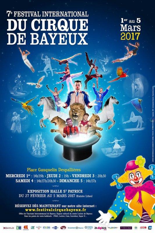 FESTIVAL DU CIRQUE DE BAYEUX : L'AFFICHE