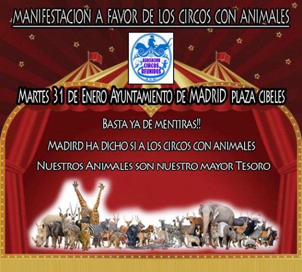 MANIFESTATION EN FAVEUR DES CIRQUES AVEC ANIMAUX
