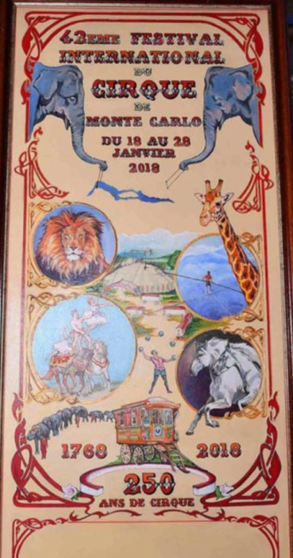 L'AFFICHE DU 42ème FESTIVAL INTERNATIONAL DU CIRQUE DE MONTE-CARLO