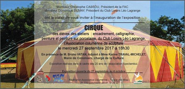 """EXPOSITION """"CIRQUE"""" À COLOMIERS (31)"""