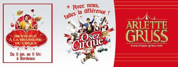 """CIRQUE ARLETTE GRUSS TOURNÉE 2018 """"OSEZ LE CIRQUE!"""""""