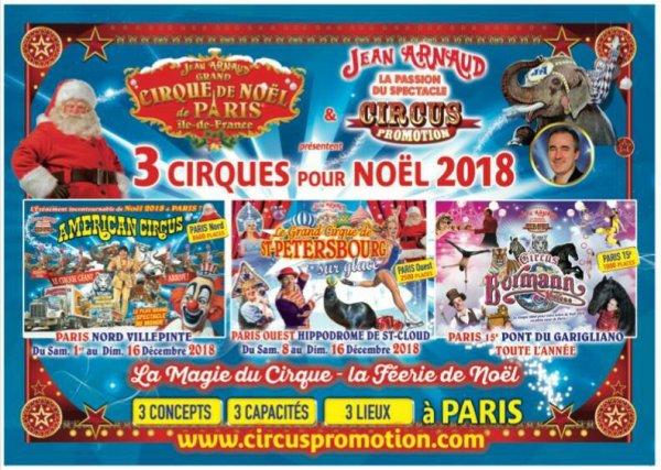 CIRQUES DE NOËL À PARIS