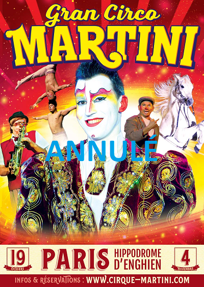 ANNULATION DU CIRQUE MARTINI