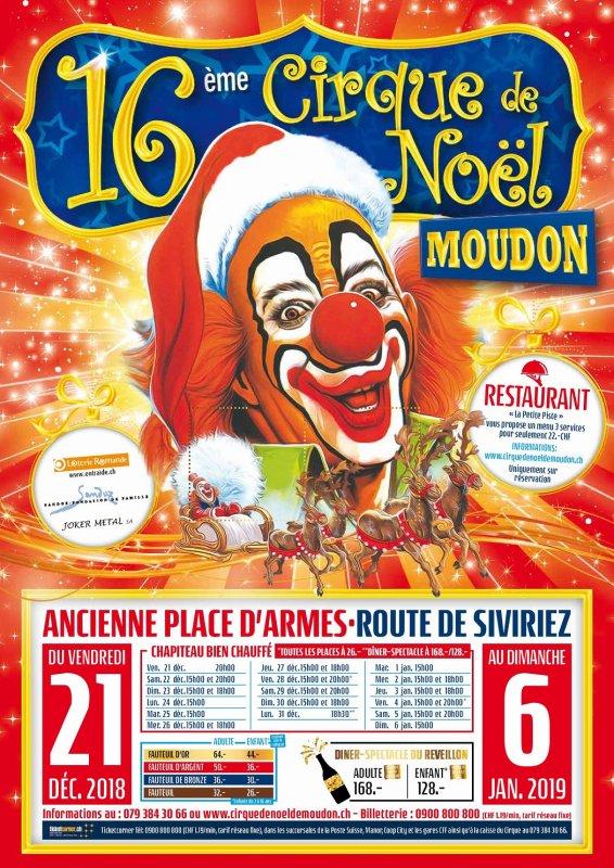 CIRQUE DE NOËL DE MOUDON : L'AFFICHE