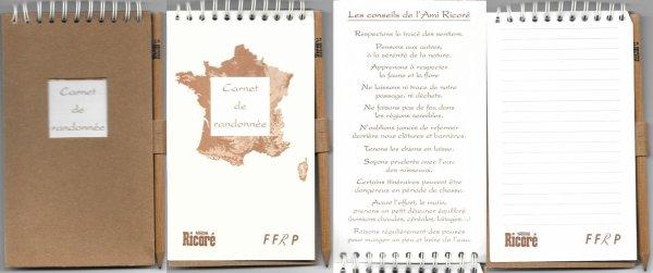 Pages publicitaires + Carnet de Randonnée FFRP