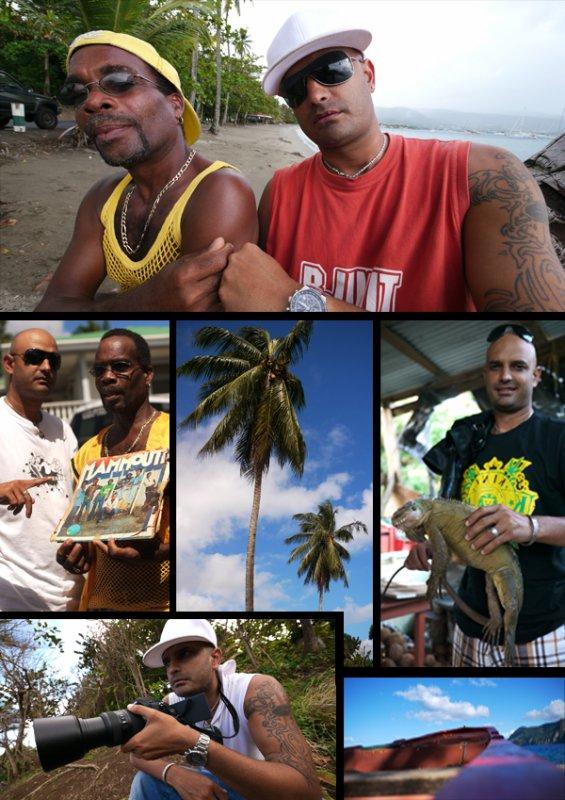 Escapade en Dominique avc Derick Peter alias Mammouth une des légendes du Cadence Lypso.