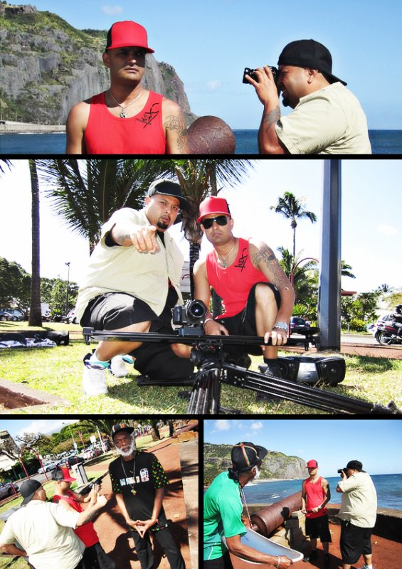 Sur le tournage du clip de Black affairs feat futurcrew.