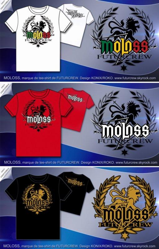 NOUVEAUTE Tee-shirt  MOLOSS arrivé. Design KONIX/ROKO