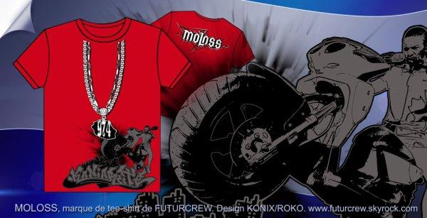 Nouveau Modèle teeshirt MOLOSS Futurcrew - Konix/Roko.