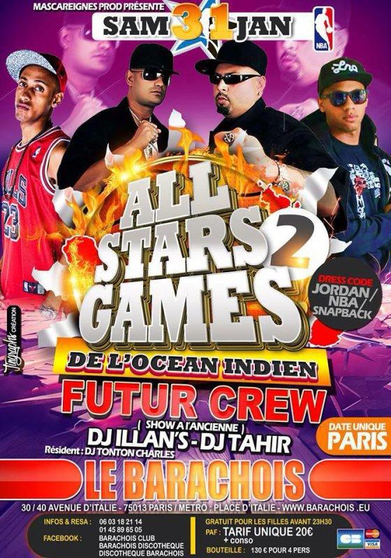 Futurcrew Le 31 janvier à Paris au Barachois discothèque !!!