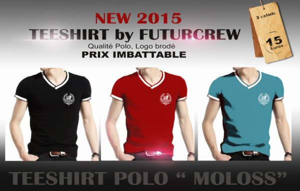 New teeshirt polo 2015. Design by futurcrew -Konix/Roko.