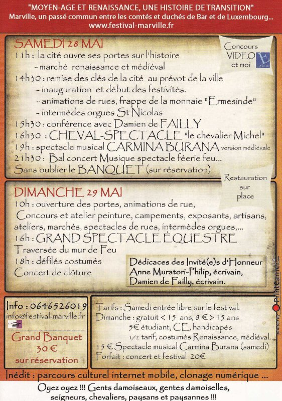 MARVILLE 2011 PROGRAMME