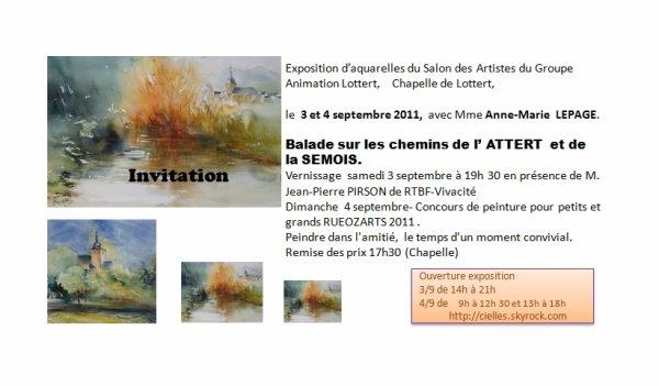 Lottert 2011 ce 3 et 4 septembre
