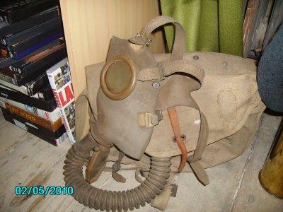 masque a gaz 1943 avec sac toile 100% d origine sans trou